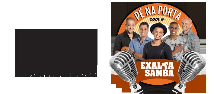 Logotipo Exalta Samba Pé Na Porta