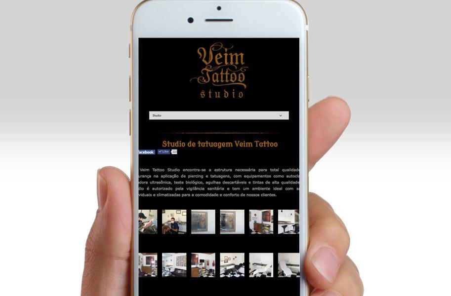 Criação de Site para Studio de Tattoo