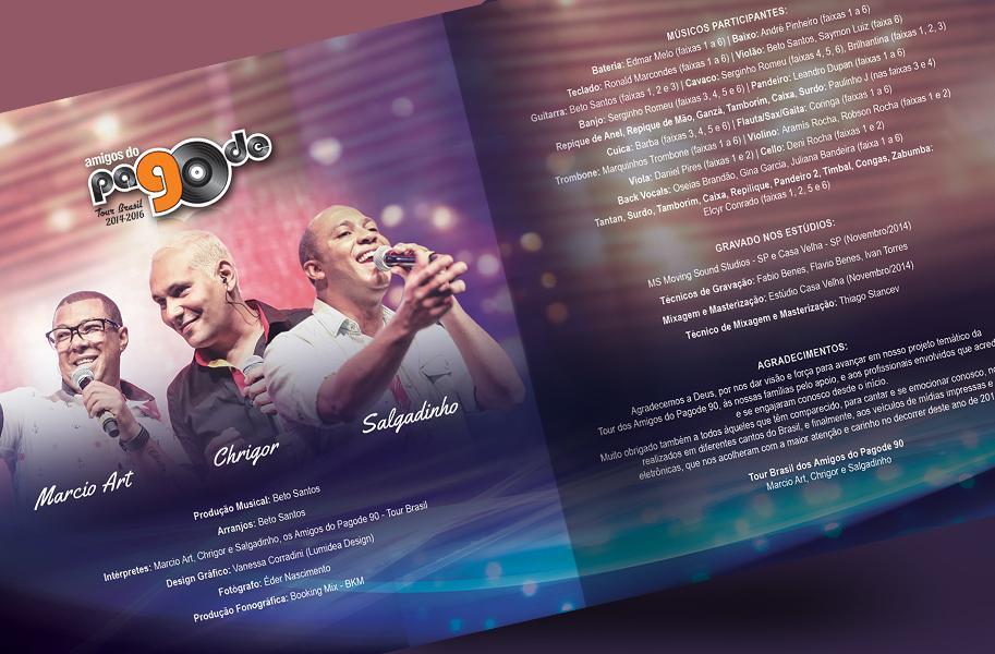 Projeto Gráfico para CD dos Amigos do Pagode 90